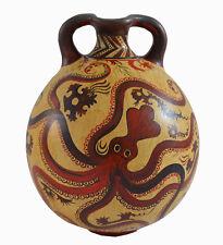 Minoan Art Pottery Amphora Vase - Octopus Design - Ancient Crete Greece