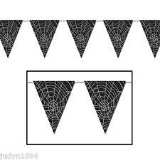 HALLOWEEN HORROR SPIDERMAN PARTY SPIDER COBWEB FLAG BANNER PENNANT SPIDERWEB