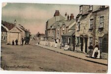 Portland Chiswell Cottages Lady Child etc Posted 1914