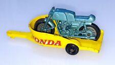HONDA MOTORCYLLE & TRAILER ~ Matchbox Lesney 38 C3 ~ Made in England in 1967
