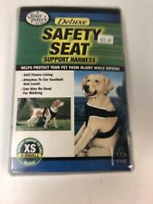 Four Paws Safety Seat Vest Dog Harness Deluxe Support XS Under 15 lbs Black *