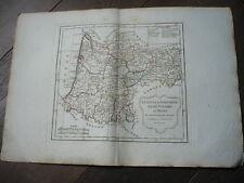 CARTE GUIENNE GASCOGNE BASSE NAVARRE BEARN 1805 VAUGONDY
