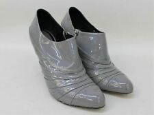 CHRISTIAN DIOR Ladies Grey Patent Leather Stiletto Shoe Boots UK7 EU 39.5