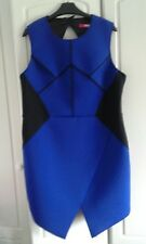 Cobalt Blue / Black  Scuba Dress Size 18 NWT