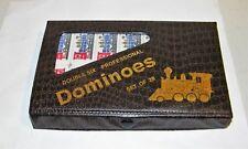 Professional Double Six 28 Pc Color Dot Dominoes Vinyl Case,Instructions, Train