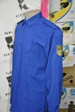 FDJ Hemd Herren blau Bluse DDR 70er TRUE VINTAGE Hemd GDR shirt Party