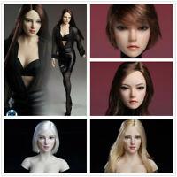 1/6 SUPER DUCK SDH002/SDH018 Female Head Sculpt Fit 12'' Action Figure Body