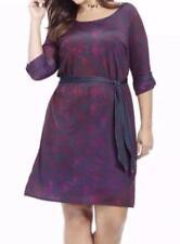 NWOT Jete purple blue design knee length dress women's plus size 1X