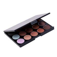 3pcs/Set 15 Farben Concealer Palette Make Up + ovale blending Pinsel + Schwamm