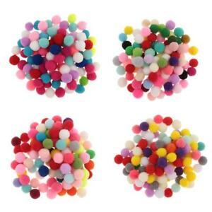 Fluffy Mini Craft Pom Poms Mixed Colours 10mm 15mm 20mm 30mm Party Craft Decor