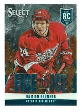2013-14 PANINI SELECT DAMIEN BRUNNER FIRE ON ICE ROOKIE