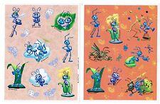 2 Sheets Pixar Disney's A BUGS LIFE Stickers!