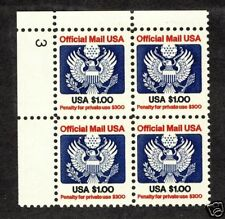 United States 1983-89  Scott #0132  MNH Plate Block