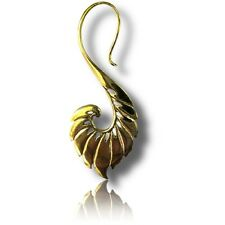 """Brass Plugs Earrings Spirals Tribal Talons Pair 18g (1Mm) 1"""" 3/4 Inch Polished"""
