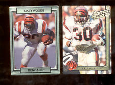 1990-91 Action Packed ICKEY WOODS Cincinnati Bengals Card Lot