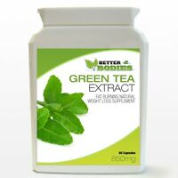 60 Green Tea Extract Capsules Bottle Weight Loss Diet Slimming Pills