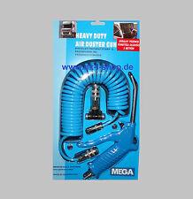 Ausblaspistole 5m Spiralschlauch Luftdruckpistole Sprühpistole Druckluft Set
