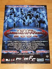 Pride FC POSTER 2004-Fedor emelianenko / MIRKO crocop MINOTAURO Nogueira UFC