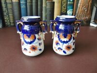 A Pair Of Victorian Gaudy Welsh Vases