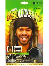 King J Spandex Dreadlocks Band Unisex Ultra Stretch Headband Locks #708 Black