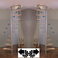 Metallic Spiral Staircase  fi140/70cm Steel Space-saving, Compact
