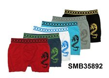 Lot of 6 Mens MICROFIBER BOXER BRIEFS Seamless One Size Fits Most S M L XL 35892