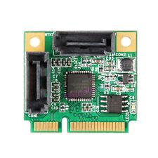 Mini PCI-E to SATA 3.0 Card 2Port Internal SATA III RAID Controller Adapter 6Gb