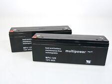 2 x Multipower MP4-12D  12V 4Ah | Blei-AKKU | Zyklen **NEU mit Rechnung**