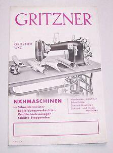Prospectus Gritzner MDF Machine à Coudre 1936 Publicité ! (D
