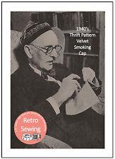 1940's Velvet Smoking Cap - Sewing Pattern