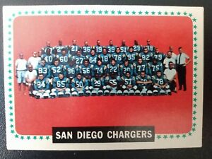 1964 Topps #175 San Diego Chargers Team Card- EX