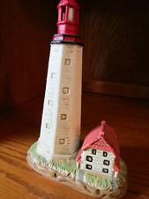 Geo Z Lefton 1993 Sandy Hook Lighthouse Ceramic Figurine - #01187 With Labels