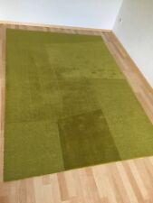 NUR FÜR SELBSTABHOLER! Teppich 100% Schurwolle Andrea Ikea 170x240 cm grün Kiwi