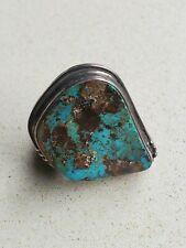 Vintage Navajo Vernon Begay Royston Boulder Turquoise and  Sterling Ring