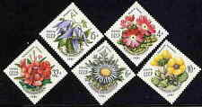 RUSSIA 1981  FLOWERS OF THE CARPATHIAN MOUNTAINS MINT COMPLETE  SET!