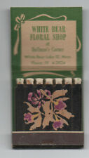 1940s Book of Feature Matches from the White Bear Lake Floral Shop Minnesota