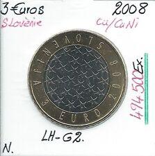 3 Euros - SLOVENIE - 2008 // Qualité: NEUVE (494 500 Ex)