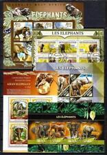 Eléphants lot de 10 séries oblitérés en feuillet