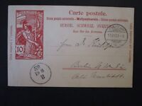 Switzerland 1900 Postal Card Used / Light Crease - Z4974