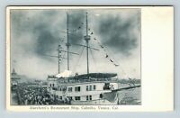 Venice CA, Marchetti's Restaurant Ship, Vintage California Postcard