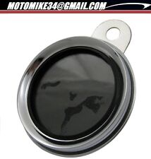Support Porte vignette Assurance Moto Chrome Metalique