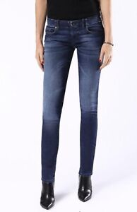 New Diesel Ladies Grupee-NE 0674Y Sweat Jogg Jeans Blue Skinny Low Size W31