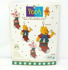Bucilla POOH & PIGLET STOCKING SURPRISE Walt Disney Felt Kit 84172 **NEW**