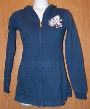 Womens Blue Skull Accent Club Soda Hooded Hoodie Jacket Size Small very good