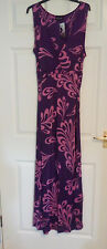 BNWT Principles Sleeveless Purple Pink Floral Full Length Dress 18 Wedding Prom