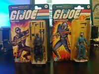 Hasbro Retro GI Joe Snake Eyes & Cobra Commander Figure Walmart Exclusive SIB