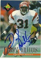 1994 Classic DARRYL WILLIAMS Signed Card Lambeau Field BENGALS MIAMI autograph