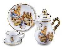 Reutter  Porcelain Beatrix Potter Miniature Teapot Set