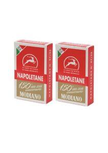 2 Modiano Napoletane Italian Playing Cards Briscola & scopa ( original ) NEW