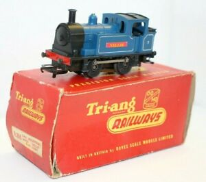 Triang OO R355 0-4-0 Industrial Locomotive, Nellie, Blue, Boxed, RN 7, New Motor